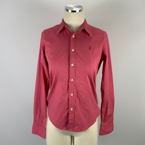Ralph Lauren Sz 6 Slim Fit Button Front Blouse
